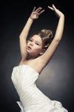 Princesa da menina no vestido de bola branco Imagens de Stock Royalty Free