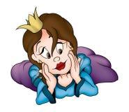 Princesa de colocação Amorous ilustração royalty free
