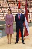 Princesa de coroa Mary Elizabeth de Dinamarca e Frederik, príncipe herdeiro de Dinamarca imagem de stock