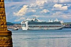 Princesa de corona del barco de cruceros Foto de archivo libre de regalías
