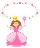 Princesa de hadas con la frontera de la estrella Imagen de archivo