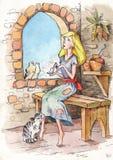 Princesa de la princesa del cuento de hadas de Cenicienta stock de ilustración