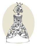 Princesa de la historieta Fotos de archivo libres de regalías