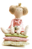Princesa de la muñeca y el guisante imagen de archivo