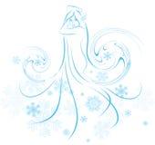 Princesa de la nieve Imágenes de archivo libres de regalías
