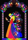 Princesa del cuento de hadas de la ilustración stock de ilustración