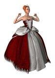 princesa del cuento de hadas del ejemplo 3D en blanco Imagen de archivo libre de regalías
