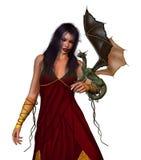 Princesa del dragón stock de ilustración