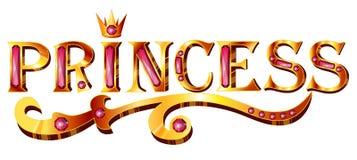 Princesa del título del oro ilustración del vector