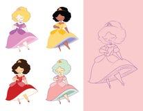 Princesa delicada ilustración del vector