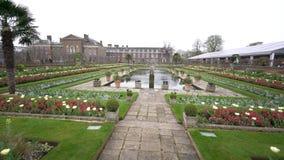 Princesa Diana Memorial Garden en Hyde Park almacen de metraje de vídeo