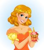 Princesa do aniversário ilustração stock