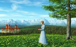 Princesa do conto de fadas Foto de Stock Royalty Free