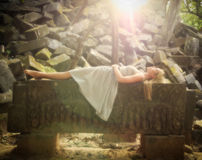 Princesa do conto de fadas da Bela Adormecida Foto de Stock Royalty Free