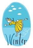 Princesa do inverno ilustração stock