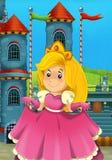 A princesa dos desenhos animados - épocas medievais Fotos de Stock
