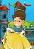 A princesa dos desenhos animados - épocas medievais Foto de Stock Royalty Free