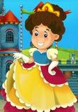A princesa dos desenhos animados - épocas medievais ilustração stock