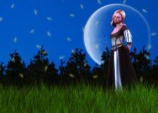 Princesa Dreamy Background do conto de fadas ilustração do vetor