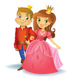 Princesa e príncipe bonitos Fotografia de Stock Royalty Free