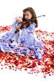 Princesa e violino pequenos Fotos de Stock