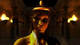 Princesa egipcia Imágenes de archivo libres de regalías