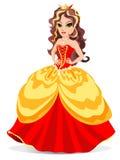Princesa en alineada roja Foto de archivo
