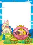 Princesa en el marco 1 del tema del carro stock de ilustración
