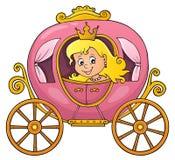 Princesa en la imagen 1 del tema del carro libre illustration