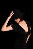 Princesa en negro foto de archivo libre de regalías