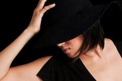 Princesa en negro imágenes de archivo libres de regalías