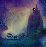 Princesa en príncipe que espera de la torre para Imagen de archivo