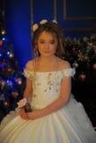 Princesa en un vestido blanco retro Fotografía de archivo libre de regalías
