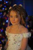 Princesa en un vestido blanco retro Imagen de archivo