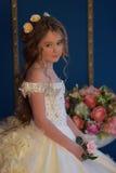 Princesa en un vestido blanco retro Imágenes de archivo libres de regalías