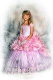 Princesa en un vestido rosado imágenes de archivo libres de regalías