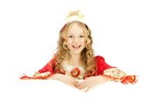 Princesa encantadora Holding la bandera grande Fotografía de archivo libre de regalías