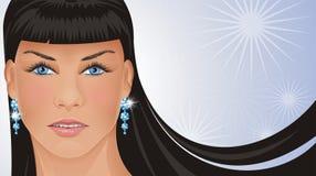 Princesa fría del encanto ilustración del vector