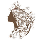 Princesa Hairstyle ilustração do vetor