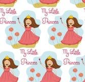 Princesa inconsútil del modelo con las flores imagen de archivo