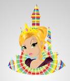 Princesa irritada Imagem de Stock Royalty Free
