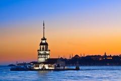 Princesa Island em Istambul, no por do sol, mesquita de Hagia Sophia Imagens de Stock