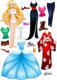 Princesa loura Dress Up da menina Imagem de Stock