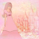 Princesa mágica Castle del cuento de hadas Foto de archivo