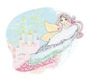 Princesa mágica Castle del cuento de hadas Fotos de archivo libres de regalías