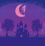 Princesa mágica Castle del cuento de hadas Imagen de archivo libre de regalías