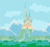 Princesa mágica Castle del cuento de hadas Fotos de archivo