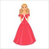 Princesa Menina bonito ilustração royalty free