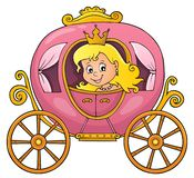 Princesa na imagem 1 do tema do transporte ilustração royalty free
