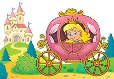 Princesa na imagem 3 do tema do transporte ilustração stock